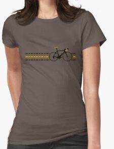 Bike Stripes Yellow/Black - Chain Womens Fitted T-Shirt