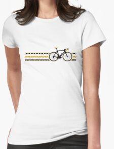 Bike Stripes Yellow/Black - Chain Womens Fitted T-Shirt