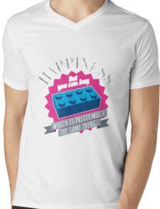 Brick Happiness Mens V-Neck T-Shirt
