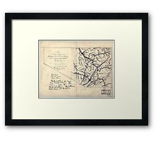 206 Map showing location of Flat top New River Gauly Lower Measures coal field West Virginia Framed Print