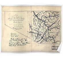 206 Map showing location of Flat top New River Gauly Lower Measures coal field West Virginia Poster