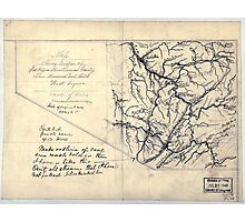 206 Map showing location of Flat top New River Gauly Lower Measures coal field West Virginia Photographic Print