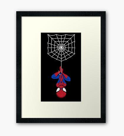 Spider on a shirt Framed Print