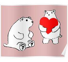 Shy Bear (Bear Love) Poster