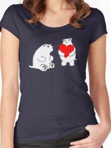 Shy Bear (Bear Love) Women's Fitted Scoop T-Shirt