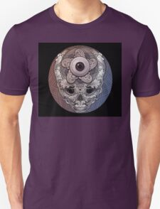 psychedelic face eye circle T-Shirt