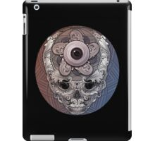 psychedelic face eye circle iPad Case/Skin
