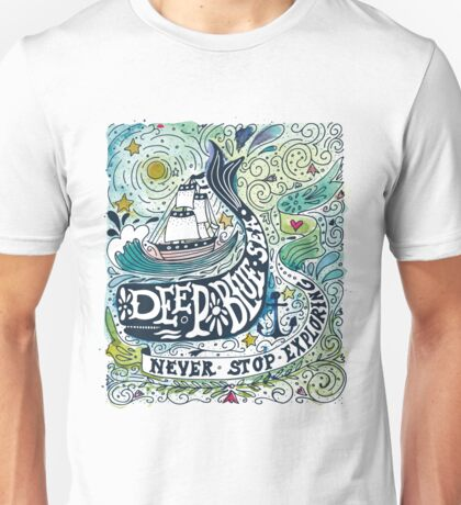 Deep blue sea.. Unisex T-Shirt