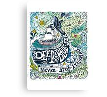 Deep blue sea.. Canvas Print
