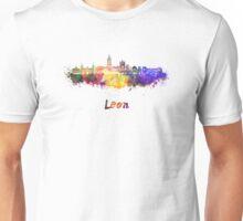 Leon skyline in watercolor Unisex T-Shirt