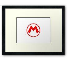 Mario Logo High res White Version Framed Print