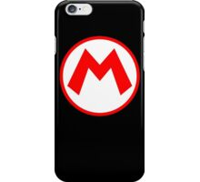 Mario Logo High res Black Version iPhone Case/Skin