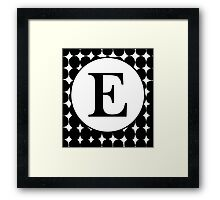 E Bubble Framed Print