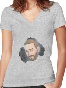 Men on Roses 6 - Jess Women's Fitted V-Neck T-Shirt