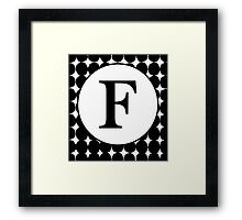 F Bubble Framed Print