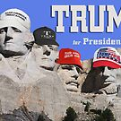 Trump Hats on Mt. Rushmore by EyeMagined