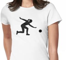 Bowling woman Womens Fitted T-Shirt