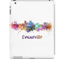 Evansville skyline in watercolor iPad Case/Skin
