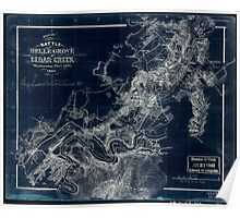 248 Sketch of the battle of Belle Grove or Cedar Creek Wednesday Octr 19th 1864 Inverted Poster