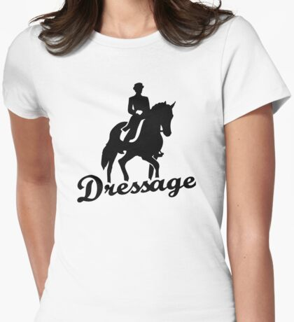 Dressage riding Womens Fitted T-Shirt