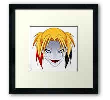 Comic Blonde Girl ORIGINAL Design (Videogame Version) Framed Print