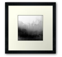 Modern Black and White Watercolor Gradient Framed Print