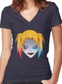 Comic Blonde Girl ORIGINAL Design (Movie Version) Women's Fitted V-Neck T-Shirt