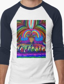 Psychedelic Abduction  Men's Baseball ¾ T-Shirt
