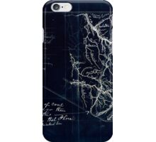 206 Map showing location of Flat top New River Gauly Lower Measures coal field West Virginia Inverted iPhone Case/Skin