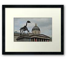 The National Gallery With Horse Skeleton Framed Print