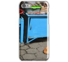 Dog in an Outdoor Market iPhone Case/Skin
