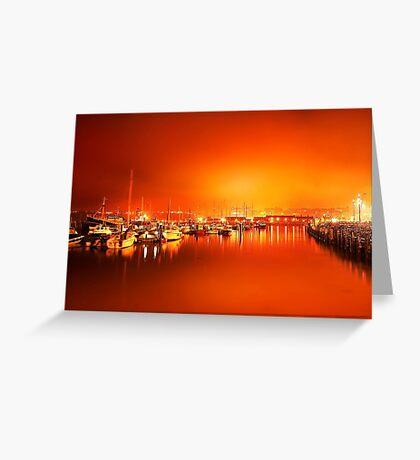 Harbor rays  Greeting Card