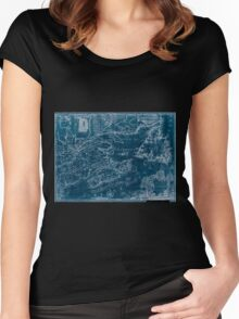 American Revolutionary War Era Maps 1750-1786 969 This map of the province of Nova Scotia and parts adjacent Inverted Women's Fitted Scoop T-Shirt