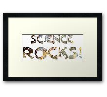 Cool Geeky Science Rocks Warm Earth Tone Granite Framed Print