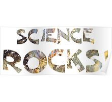 Cool Geeky Science Rocks Warm Earth Tone Granite Poster