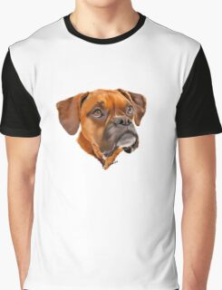 Boxer Pup Art Portrait Graphic T-Shirt