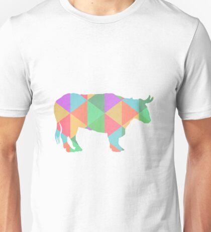 Bull Cow Triangles Unisex T-Shirt