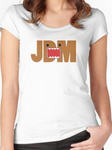 Domo Monster in JDM letters Women's Fitted Scoop T-Shirt