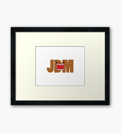 Domo Monster in JDM letters Framed Print
