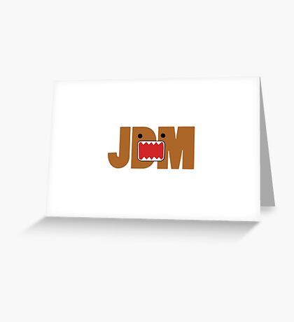Domo Monster in JDM letters Greeting Card