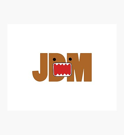 Domo Monster in JDM letters Photographic Print