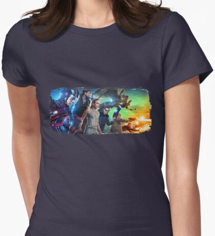 DC Legends of Tomorrow Paint Splash Womens Fitted T-Shirt