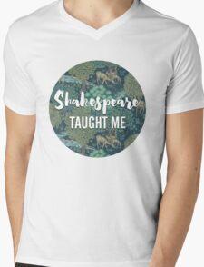 LIT NERD :: SHAKESPEARE TAUGHT ME Mens V-Neck T-Shirt