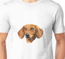 Red Dachshund Art Portrait Unisex T-Shirt