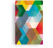 Triangles and more shapes Canvas Print