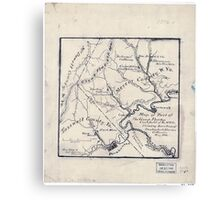 179 Map of part of the great Flat-top coal-field of Va W Va showing location of Pocahontas Bluestone collieries May 1886 Canvas Print