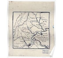 179 Map of part of the great Flat-top coal-field of Va W Va showing location of Pocahontas Bluestone collieries May 1886 Poster