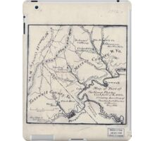 179 Map of part of the great Flat-top coal-field of Va W Va showing location of Pocahontas Bluestone collieries May 1886 iPad Case/Skin
