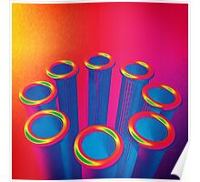 Colorful Pop Art Cylinders Poster