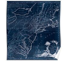 American Revolutionary War Era Maps 1750-1786 586 Map for the interior travels through America delineating the march of the army Inverted Poster